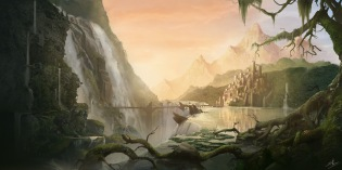 Matte Painting - A Lost City